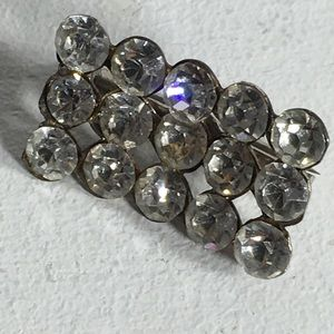 Vintage Clear Rhinestone Brooch/Pin